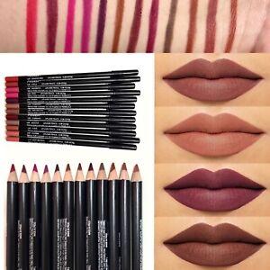 12 PCS/Set Waterproof Lipstick Lip Liner Long Lasting Matte Lipliner Pencil