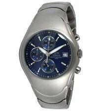 Gino Franco Men's Round Analog Quartz Stainless Steel Chronograph Bracelet Watch