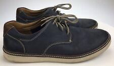 Men's 11 M Johnston Murphy McGuffey Plain Toe Sneakers Navy Blue Nubuck Leather