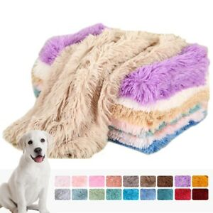 Pet Dog Cat Mat Blanket Calming Sleeping Beds Ultra Winter Warm Soft Long Plush