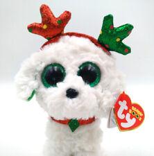 "6"" TY Beanie Boo Collection The Christmas Dog Stuffed Animal Sugar Plush Toys"