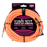 Ernie Ball 10' Braided Straight / Angle Instrument Cable - Neon Orange P06079