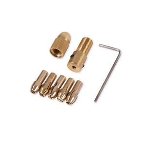 Mini-Bohrfutter 0,5 - 3 mm Mikrobohrerhalterung 8-er Set Messing Miniwerkzeuge