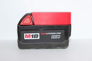 Red battery holder / cover for Milwaukee M18 18v