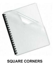 200 Sheets - Clear Plastic Report Covers - 7 Mil.   -   8.5 x 11
