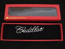 """1963 63 & 1965 65 CADILLAC FRONT CENTER ASHTRAY LID """"CADILLAC"""" SCRIPT EMBLEM"""