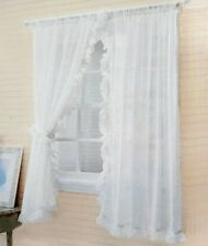 1 pair of Sheer Curtain  ruffles white color  Window Curtains W 300 X h 170