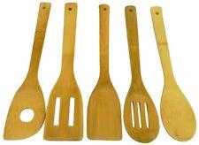 5-Pc 100% Bamboo Kitchen Utensil Tool Set Eco-Friendly NEW