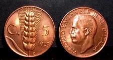 5 centesimi spiga 1929  FDC  ass. rosso  sig./periz.to