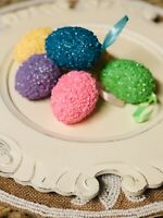 NEW Sequin Glitter Easter eggs Hanging ornaments Spring Home decor 6 pack