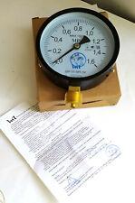 Pressure vacuum gauge manometer / Industrial Steam punk  Metal