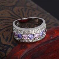 brillant größe - frauen hochzeit farbige versilbert cubic zirkonia ring