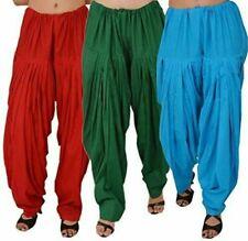 Women's Soft Cotton Full Stitched Patiala Bottom Salwar Patiyala Pack Of - 3