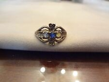 #299-VINTAGE STERLING SILVER RING-SIZE-10-GOLD TONE LITTLE TARNISHED--VERY VERY