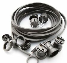 IKu ® Illu Lichterkette E 27  Bausatz 50 Meter 50 Fassungen schwarzes Kabel