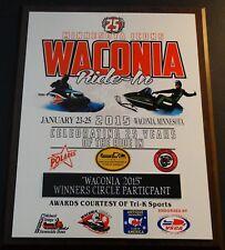 Waconia 2015 Participant Winners Circle Plaque Polaris Arctic Cat