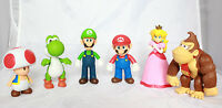 "Super Mario Brothers Party 5"" Action Figures Luigi Yoshi Donkey Kong Peach Toad"