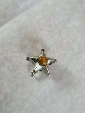 AUTHENTIC TROLLBEADS STERLING SILVER GEMINI STAR BEAD RETIRED