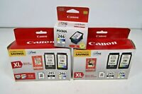 2 - Canon Pg-245xl and cl-246xl Combo Pack Ink Cartridge - Black and Color