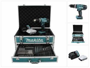 Makita HP 457 DWX4 Schlagbohrschrauber 18V 42Nm+ Akku 1,5Ah + Lader + Bohrer Set