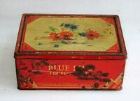 Vintage Old Collectible Blue Bird Confectionery Ad Litho Tin Box, England