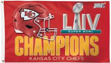 NFL KANSAS CITY CHIEFS LIV SUPER BOWL CHAMPIONS 3' x 5' FLAG FOR FLAGPOLE, NEW