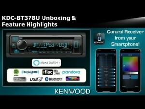 Kenwood KDC-BT378U 1-DIN Car Stereo CD Player Receiver with Bluetooth NEW!