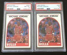 1989 - 90 Michael Jordan PSA 8 & 5 NBA Hoops Lot #200 NR MINT Vintage 89/90 HOF