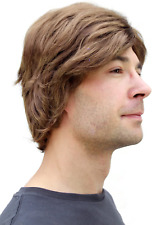 Mens Fancy Dress Wig Brown Short Hair Dressing Up Costume Wigs Haloween Party