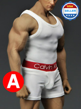 1/6 scale Men Tank Top Underwear Set WHITE For Phicen M33 M34 male Figure body