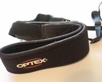 "2"" Wide Black Camera Strap Optex Neoprene Shoulder Neck with Quick release"