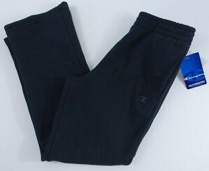 Boys Champion Sweatpants Medium Open Bottom Black Pockets