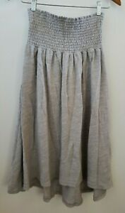Anthropologie Saturday/Sunday Terry Cloth Dress Beach Cover Up Size M gray