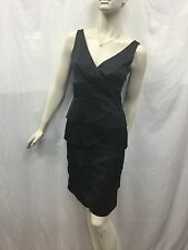 Review Size 8 Black Tiered Sleeveless Cocktail Party Dress