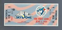VINTAGE MLB 1989 TIGERS @ TORONTO BLUE JAYS FULL TICKET - FIRST EVER @ SKYDOME