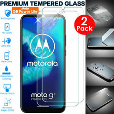 2 Pack of TEMPERED GLASS Screen Protectors Cover for Motorola Moto G8 Power Lite