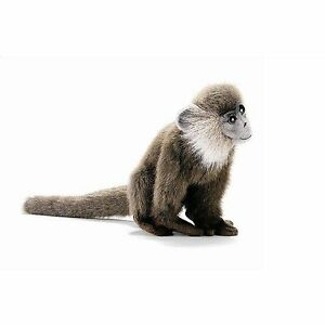 "NEW Plush Leaf Monkey Brown Life Like Stuffed 7"" Inches Hansa Toys 3648"