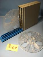 8 mm Film 2 Leerspule von Stocko in Filmdosen für 120 Meter.Nr.D.41.Film Reels