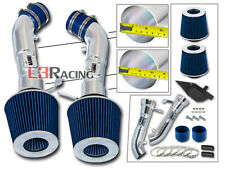 COLD SHIELD DUAL AIR INTAKE KIT+BLUE FILTER FOR 09-14 370Z Fairlady Z34 3.7L V6