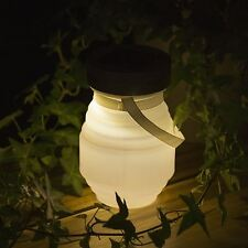 Lantern Collapsible Led Solar Lamp Camping Light Rechargeable Powered Outdoor