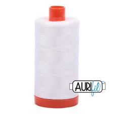 Aurifil 50wt Cotton Thread, 1422yds/1300Mt, Natural White 2021