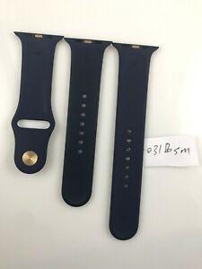 Original Apple Watch Series 7 6 Sport Band 42mm 44mm 45MM Gold Pin Midnight Blue