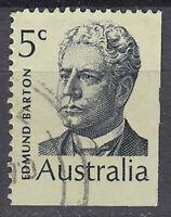 Australien Briefmarke gestempelt 5c Edmund Barton Politiker Premierminister / 81