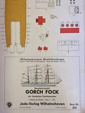 "Clearance Sale! ""Gorch Fock� 3-mast Tall Ship 1:250 Wilhelmshavener card model."