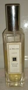 JO MALONE~ SWEET LIME & CEDAR COLOGNE ~ 1 oz ~ 75% FULL