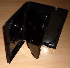 50 DVD Hüllen Case Cases 6fach 6er schwarz DVDhüllen für 6 DVDs 190x135x15mm Neu