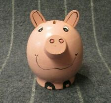 Piggy Bank ~ Pink Wood Mother Pig with 10 Miniature Baby Pigs ~ Wood