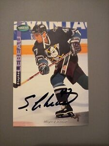 1994-95 Parkhurst Stephan Lebeau Mighty Ducks Auto Autographed Signed Card