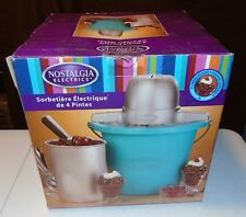 4 Quart Nostalgia Ice Cream Maker Electrics Bucket Freezer Homemade Machine NEW