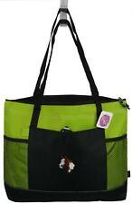 Brown & White Paint Horse Head Monogram Bag Lime Gemline Select Zipper Tote Gift